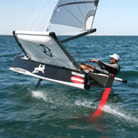 Nathan Outteridge new Bladerider team sailor and 2008 49er World Champion
